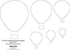 Hot Air Balloon Template - Free Printable Hot Air Balloon Template