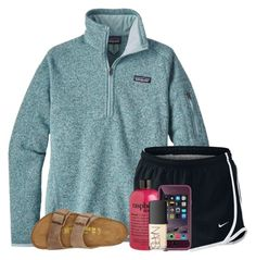 """""""Ugh"""" by wander-krn ❤ liked on Polyvore featuring Patagonia, NIKE, philosophy, NARS Cosmetics and Birkenstock"""
