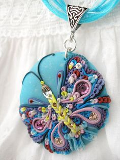 pendant, Polymer Clay, masa flexible