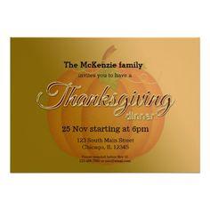 Thankgiving dinner invites