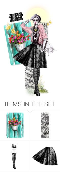 """""""Beautiful flowers grow out of dark moments!"""" by mcheffer ❤ liked on Polyvore featuring art, doll, expression and artexpression"""