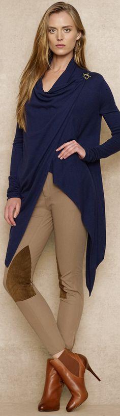 Ralph Lauren Blue Label Draped Open-Front Cardigan