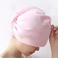 Cute Soft Hair Towel Dry Hair Hat Microfiber Solid Quickly Shower Cap Bath Accessories Drying Towel Head Wrap Hat Soft Hair, Dry Hair, Hair Turban, Turban Hat, Towel Embroidery, Shower Cap, Bath Shower, Magic Hair, Fast Hairstyles
