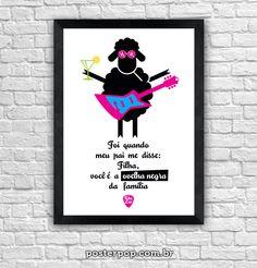 "Poster Rita Lee ""Ovelha Negra"""