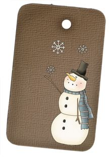 Free Prim Snowman Tags for personal use only
