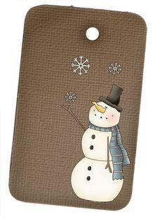 Free snowman tags