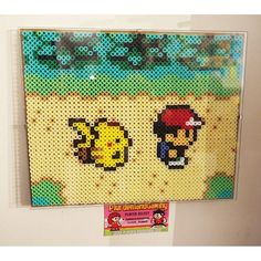 Pokemon scene perler beads by plurdenlandgaming