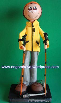 Doll Fofucho Mountaineer and hiker. Original and handmade gift   ---   Muñeco Fofucho Montañero y senderista. Regalo original y artesanal