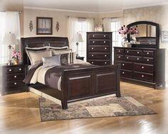 Ridgley Contemporary Dark Brown Wood Master Bedroom Set
