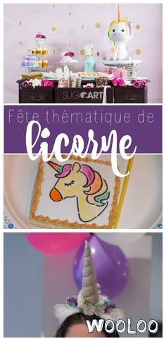 Besoin d'inspiration pour la prochaine fête de fillette? Voici la magnifique fête de licorne signée @sug'art #fête #birthday #unicorn #licorne