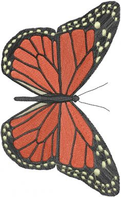 Bugs(ATG Freedesigns) Embroidery Design: Monarch Butterfly from Anns Club