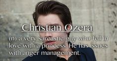 Christian Ozera-a very sarcastic guy who fell in love with a princess. He has issues with anger management- a. Christian Ozera, Vampire Academy Books, Eleanor And Park, Dominic Sherwood, Looking For Alaska, Falling In Love With Him, The Fault In Our Stars, Anger Management, Book Fandoms
