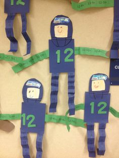 Why yes, I am putting my own stuff on here haha. Seahawks 12th Man Math. 1st Grade. Kids subtracted from 12 to create football player. Football math