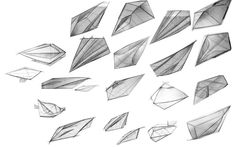 Speedform Sketches - Concept Sketches based on Organic and geometric shapes to keep the form moving while sitting still.