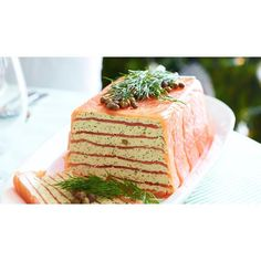 Smoked salmon terrine - my Mum has made these (not sure where her recipe is from) and everyone always loves them! Salmon Terrine Recipes, Savory Salmon Recipe, Smoked Salmon Terrine, Salmon Dishes, Seafood Dishes, Mousse, Parchment Paper Baking, Pot Pasta, Christmas Cooking