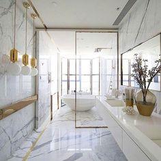 Breathtaking bathroom design by @kellyhoppen by saharg