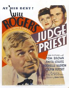 Will Rogers & Tom Brown – Judge Priest movie poster (1934)