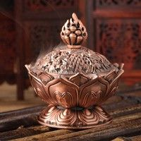 Buy Tibet Collect Bronze Auspicious Lotus Shape Statue Box Incense Burner Censer at Wish - Shopping Made Fun Feng Shui, Burning Incense, Incense Burner, Tibet, Chinese Buddha, Bronze, Incense Cones, Incense Holder, Statue