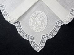 Vintage Linen and Lace Floral Handkerchief Hanky by VintageLinens, $12.00