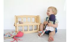 Needle and Nail   D - Wooden Doll's Cot