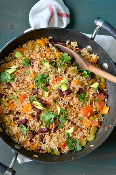 Mexican vegetable rice quinoa skillet