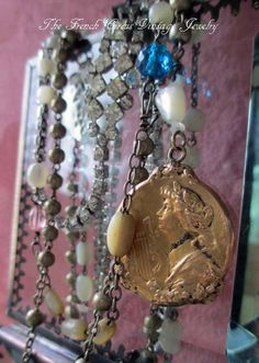 THE LYRIST  vintage assemblage necklace with by The French Circus, $235.00