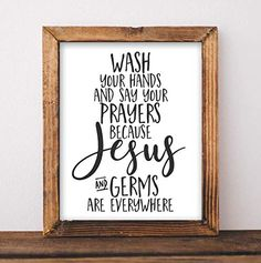 Funny Bathroom Sign - Wash Your Hands and Say Your Prayers - Unframed - 8x10 Restroom Wall Decor Home Decor Rustic Country, Vintage Home Decor, Country Farmhouse, Cheap Home Decor, Diy Home Decor, Home Detox, Neutral Kitchen, Home Quotes And Sayings