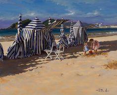 Ricardo Sanz – Carpas en Ondarreta Óleo sobre lienzo. 81×100 cms.