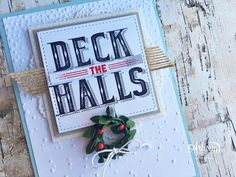 Deck the Halls are made easy with this card by @stampinup Artisan @cathycaines using the Carols of Christmas stamp set and dies.