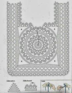 Top Cuadrante de Crochet Patron - Patrones Crochet