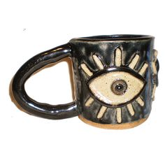 Ceramic Coffee Cup With Large Eyes and by aberrantceramics on Etsy
