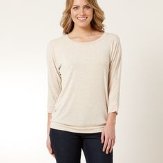 Casual Relaxed Fit Boat Neck Tee - Oatmeal www.target.com.au