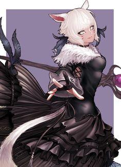 Final Fantasy Artwork, Final Fantasy Xiv, High Fantasy, Anime Wolf, Anime Neko, Anime Manga, Fantasy Character Design, Character Art, Fantasy Characters