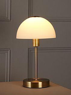 Linea Antique brass Quincey touch table lamp - House of Fraser