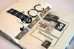 From Donna Downey- love the abstract design and neutral color of this spread.