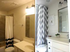Crazy Wonderful: shiplap boy's bathroom reveal, under $75!
