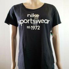 The Nike Tee Women s Activewear Top Short Sleeves Black XL  Nike   ActivewearShortSleeve 5b1b7e9ffe