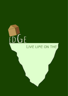 Here is my second T-Shirt design. My theme for this design was living life on the edge. I started the design by developing a basic house using the rectangle tool. I then drew out a shape of a cliff using the pen tool. I placed the house on top of the word edge to illustrate the point of living on the edge. I adjusted the size of each letter accordingly to show the house on a tilt falling closer to the edge. The green background was to give the theme of life and make the typography more…