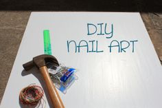 you can pretty much string up any design, word, picture, shape, (whatever floats your boat), (you get the point), that you would like to... Diy nail art