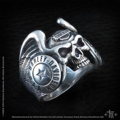 Grim Reaper Skull Ring by Billy Rebs Silver InkedShop grim