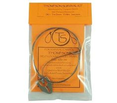 The Thompson Snares Survival Kit contains two small-game snares (00S-20 and 0S-30), tie-wire, and instructions. This type of snare was first issued to US pilots