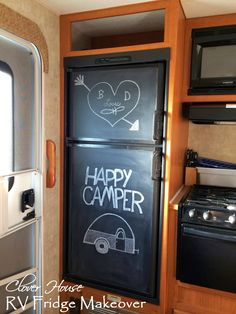 Clover House: RV Fridge Makeover with Chalk Paint