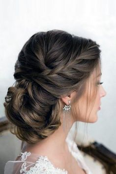 Bridal Hairstyles : 30 Graceful Wedding Updos With Braids wedding updos with bra. Bridal Hairstyles : 30 Graceful Wedding Updos With Braids wedding updos with braids low hairstyl Cool Braid Hairstyles, Hair Updo, Bride Hairstyles, Princess Hairstyles, Beautiful Hairstyles, Wedding Hair Inspiration, Wedding Hair And Makeup, Hair Wedding, Wedding Dresses