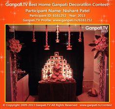 Nishant Patel Home Ganpati Picture 2013. View more pictures and videos of Ganpati Decoration at www.ganpati.tv