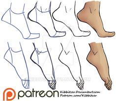 Feet step by step by Kibbitzer.deviantart.com on @DeviantArt
