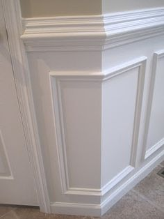 Tips for installing chair rail & wainscoting from Designed to Dwell