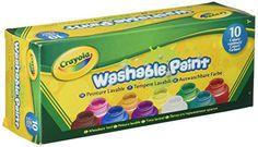 Crayola Washable Kids Paint set of 10 Bottles (2 fl oz/59... https://www.amazon.com/dp/B00004UBH3/ref=cm_sw_r_pi_dp_x_0Vz9xbVN9JZVK