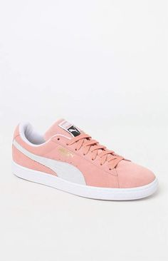 Puma Suede Classic Pink   White Shoes 047ed994f