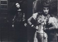 sultry Japan girls fashion models, 1920s jazz age dresses and styling, vintage costumes, spooky black and white photographs, GOTH MACABRE HAUTE COUTURE: JAPANESE MAGAZINE FASHION PHOTOS, TWISTED DISTURBING GHOSTLY IMAGES. STEAMPUNK & NEO-VICTORIANA.