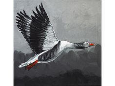 Acrylmalerei - Graugans, Acrylbild Unikat - ein Designerstück von Angelika-Rump bei DaWanda